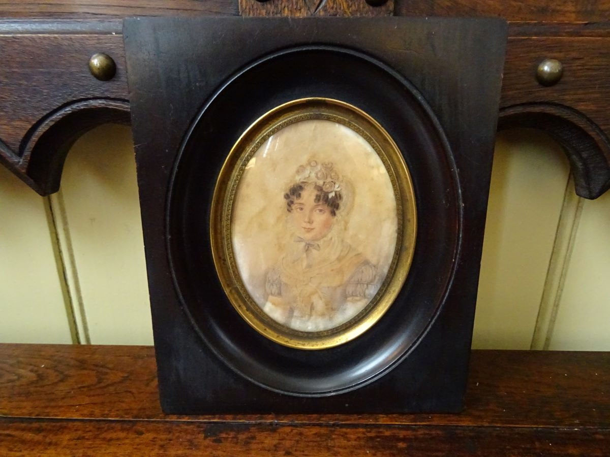 19th century miniature portrait of a woman