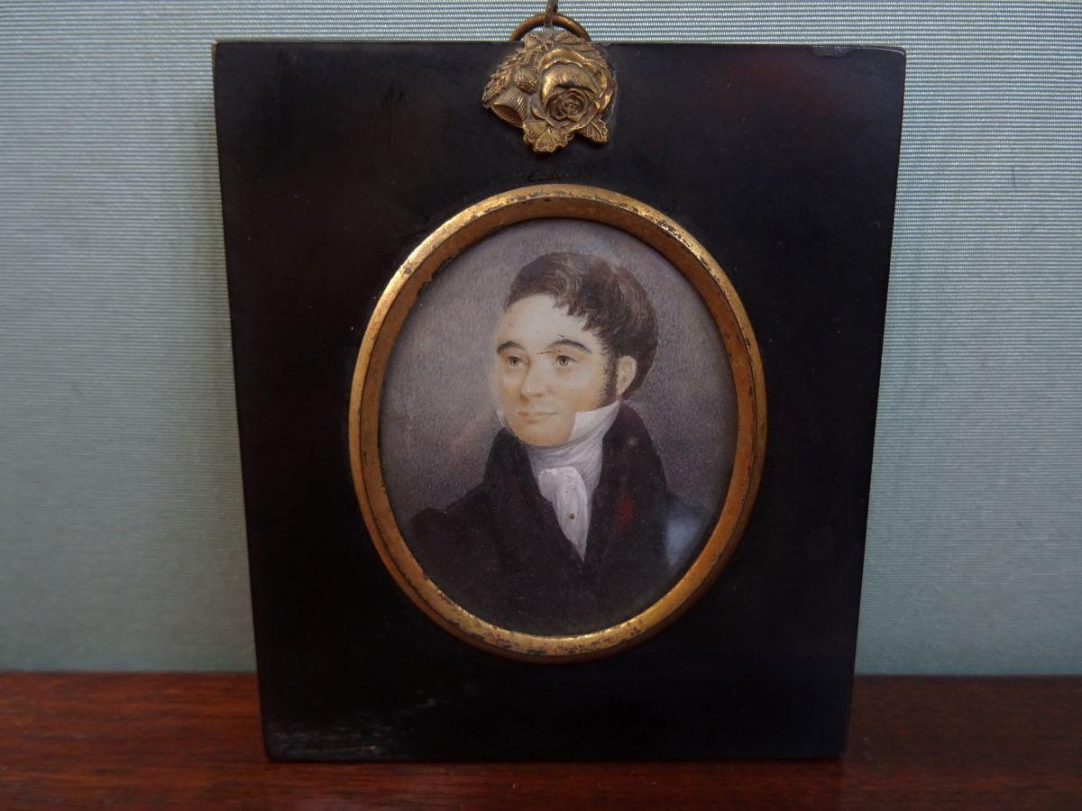 19th century miniature of a gentleman