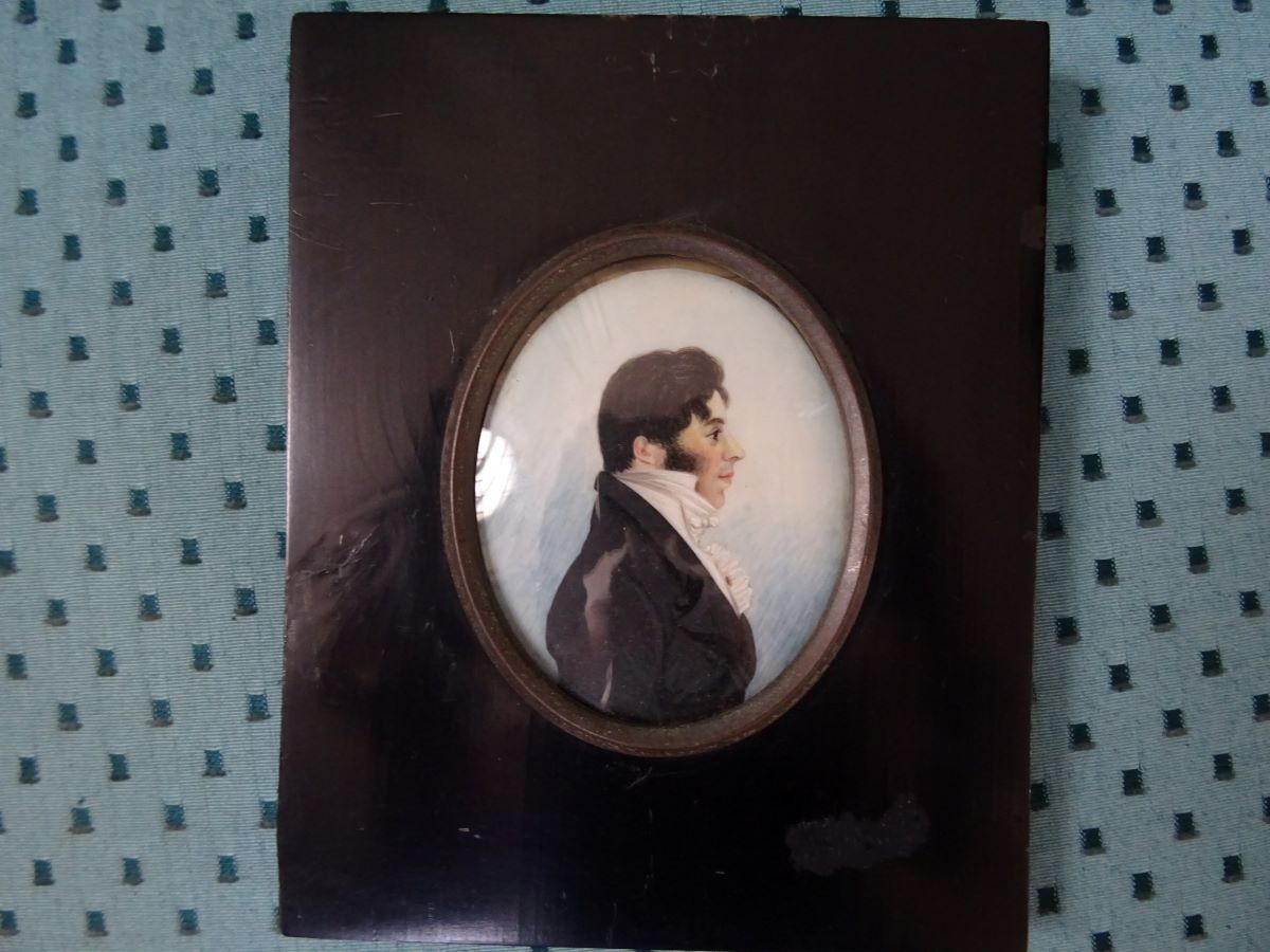 19th century profile miniature of a gentleman