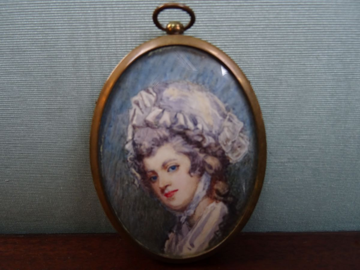 19th century miniature of a woman