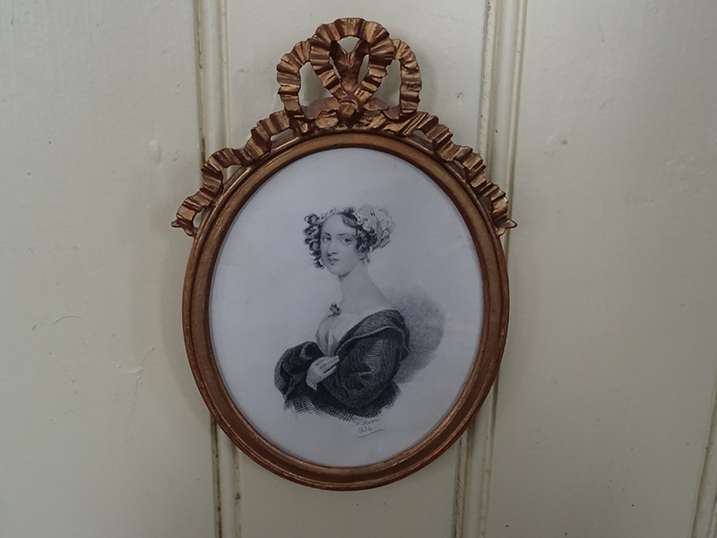 19th Century Pencil/Watercolour Portrait of a Lady