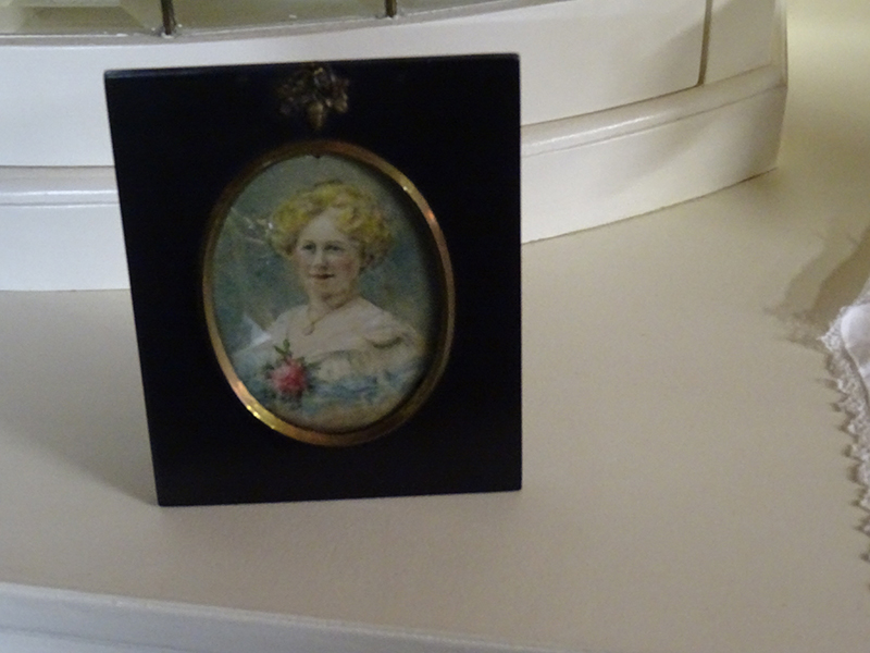 19th Century Miniature Watercolour of Middle Aged Lady