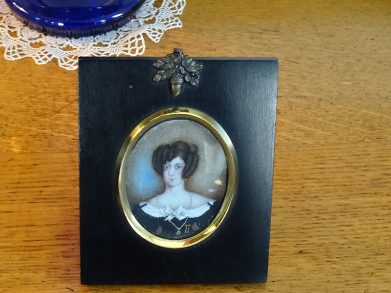 19th Century Miniature Portrait of a Woman