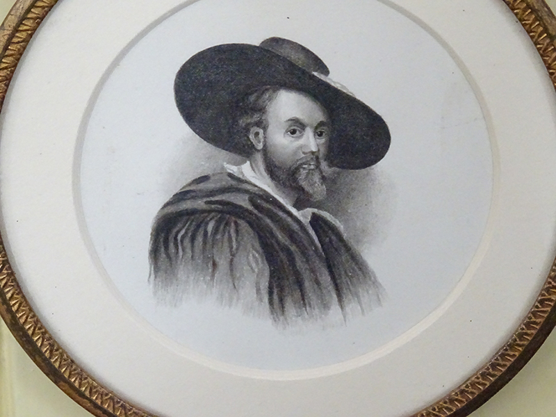 19th Century pencil/ Watercolour portrait