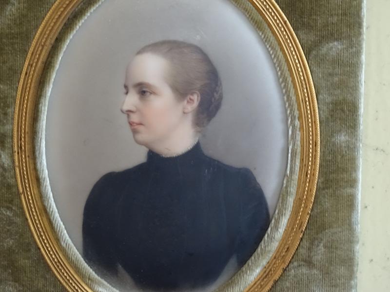19th. Century Portrait Miniature on Porcelain of a Woman