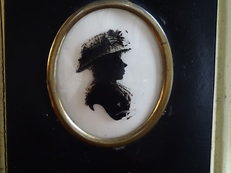 19th Century Reverse Painting on Glass of a Lady