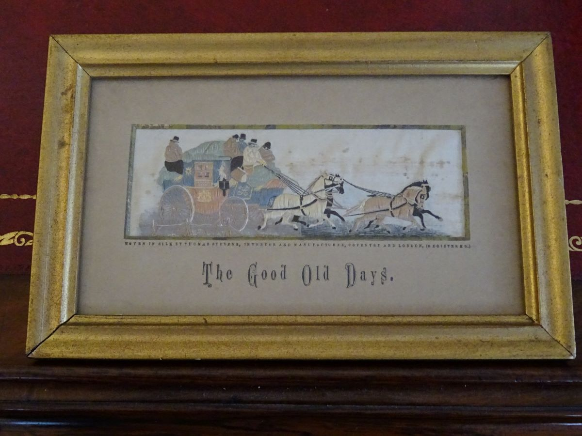 19th Century Stevengraph-'The Good Old Days'