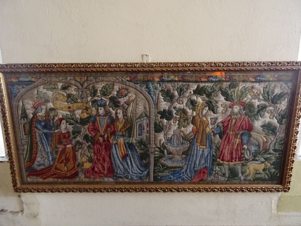 Embroidered Wall Panel