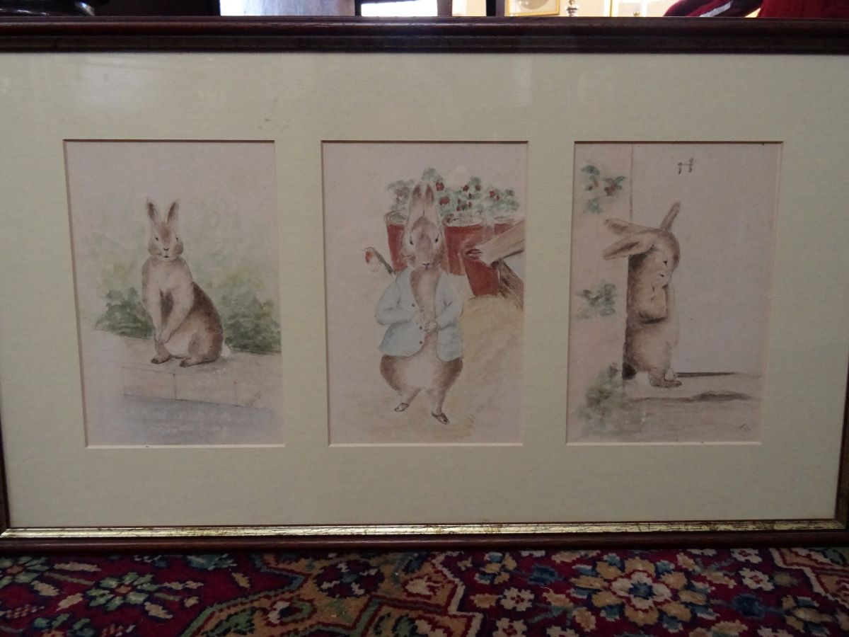 Early 20th century watercolour-'Beatrix Potter'