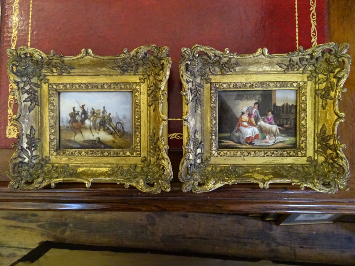 Pair of 19th century Berlin porcelain plaques