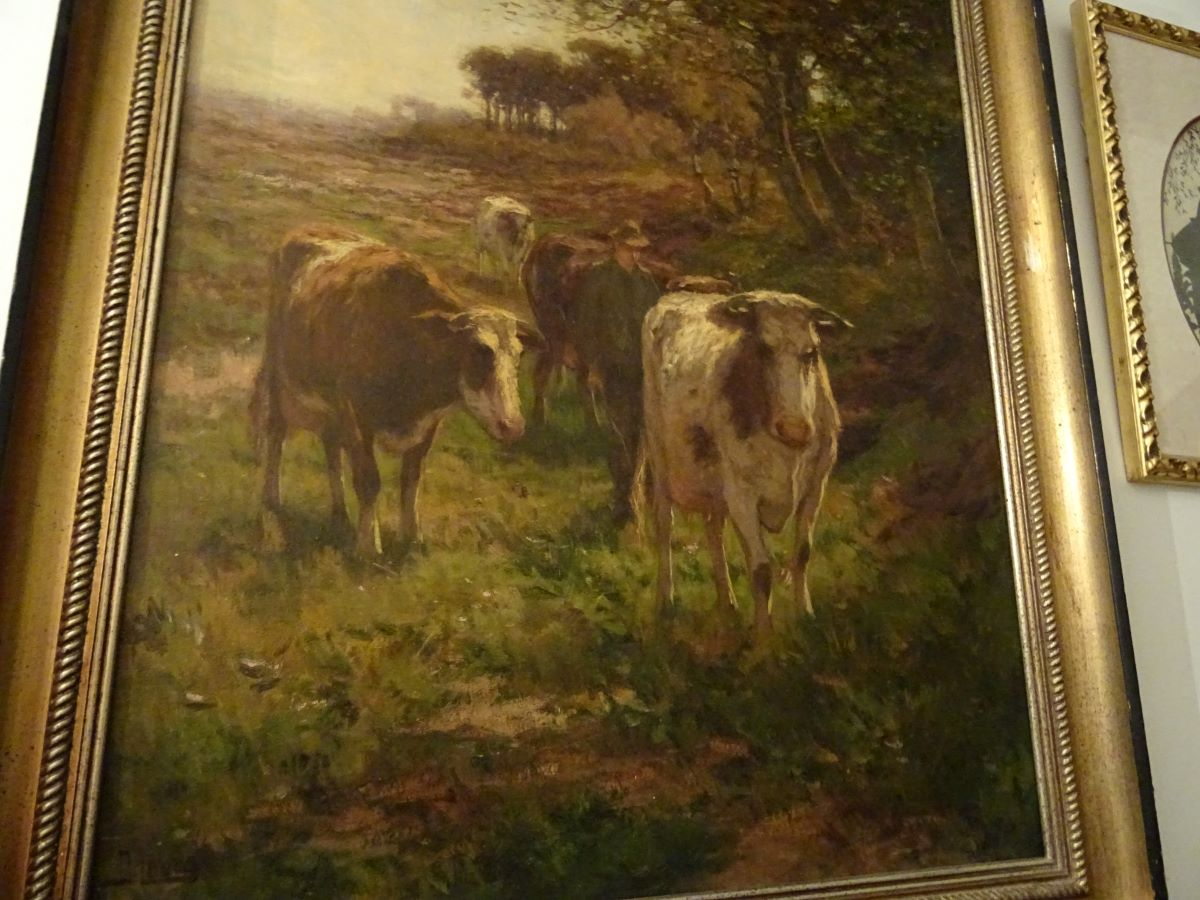 Farmer & cattle, oil on canvas. Johannus Karel Leurs