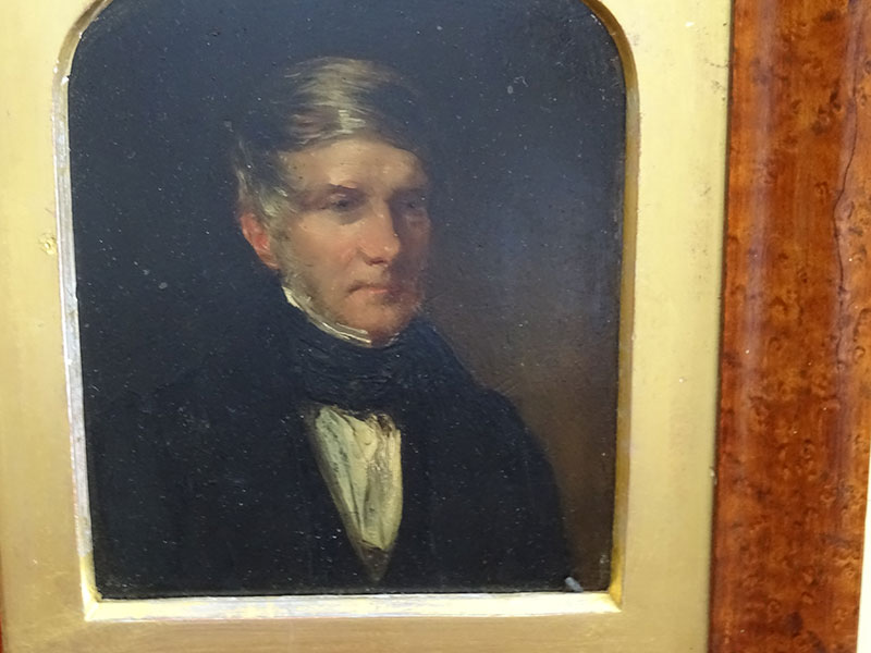 19th Century Oil on Copper, portrait of a gent