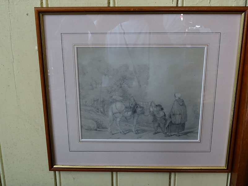 19th Century Pencil Drawing