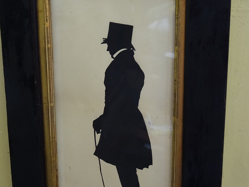 19th Century Full Length Silhouette of a Gentleman