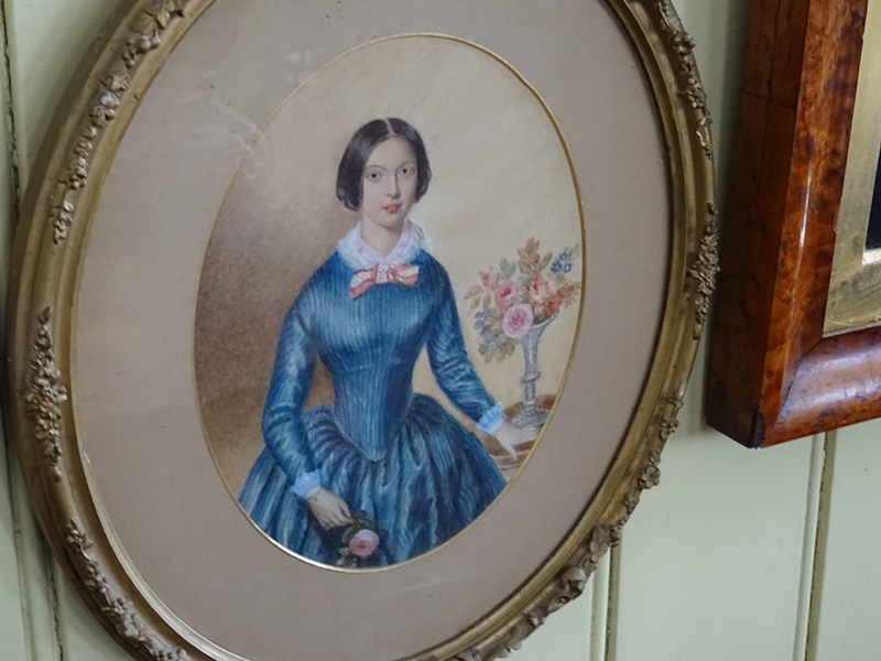 Victorian Watercolour of a  Young Lady
