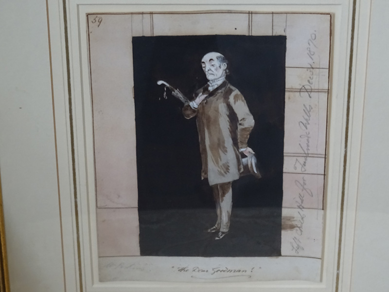 W Perkins, watercolour 'The Dear Goodman'