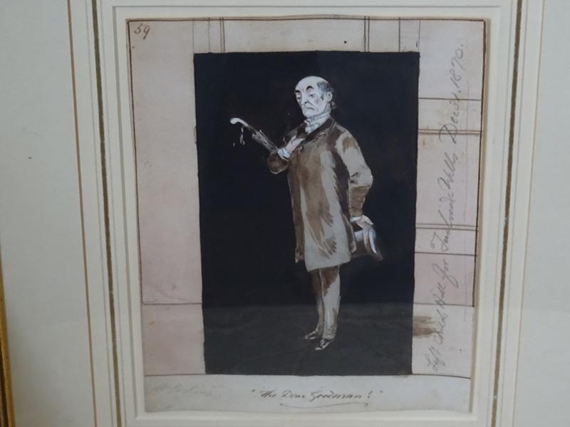 W Perkins, watercolour 'The Dear Goodman'
