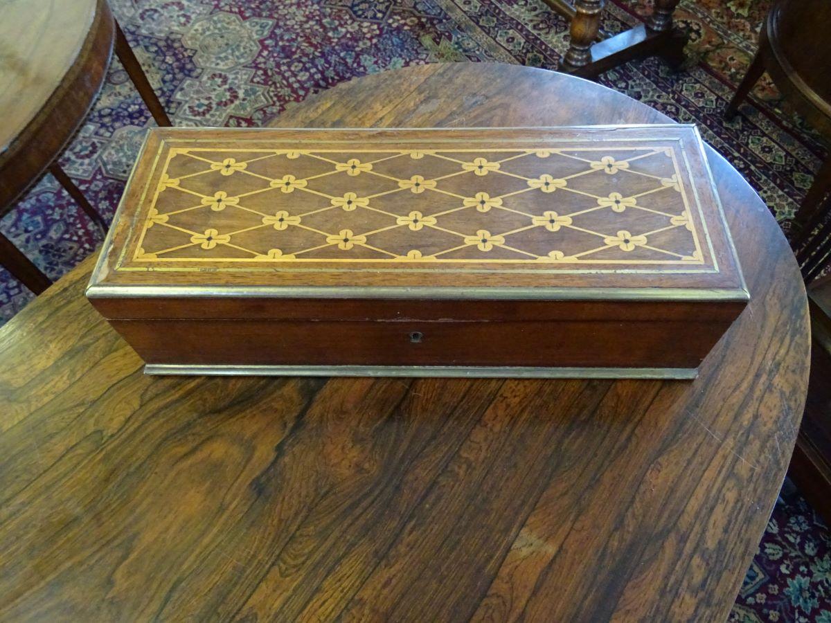 19th Century Brass Bound Box