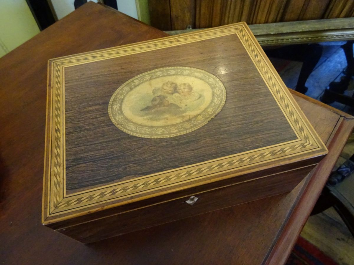 Victorian Rosewood Inlaid Box