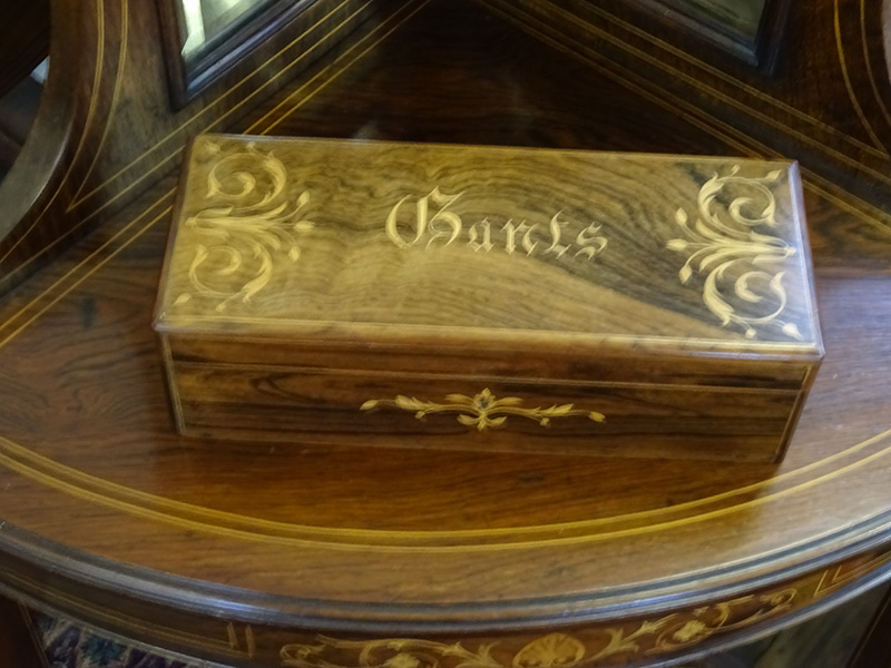 French rosewood glove box