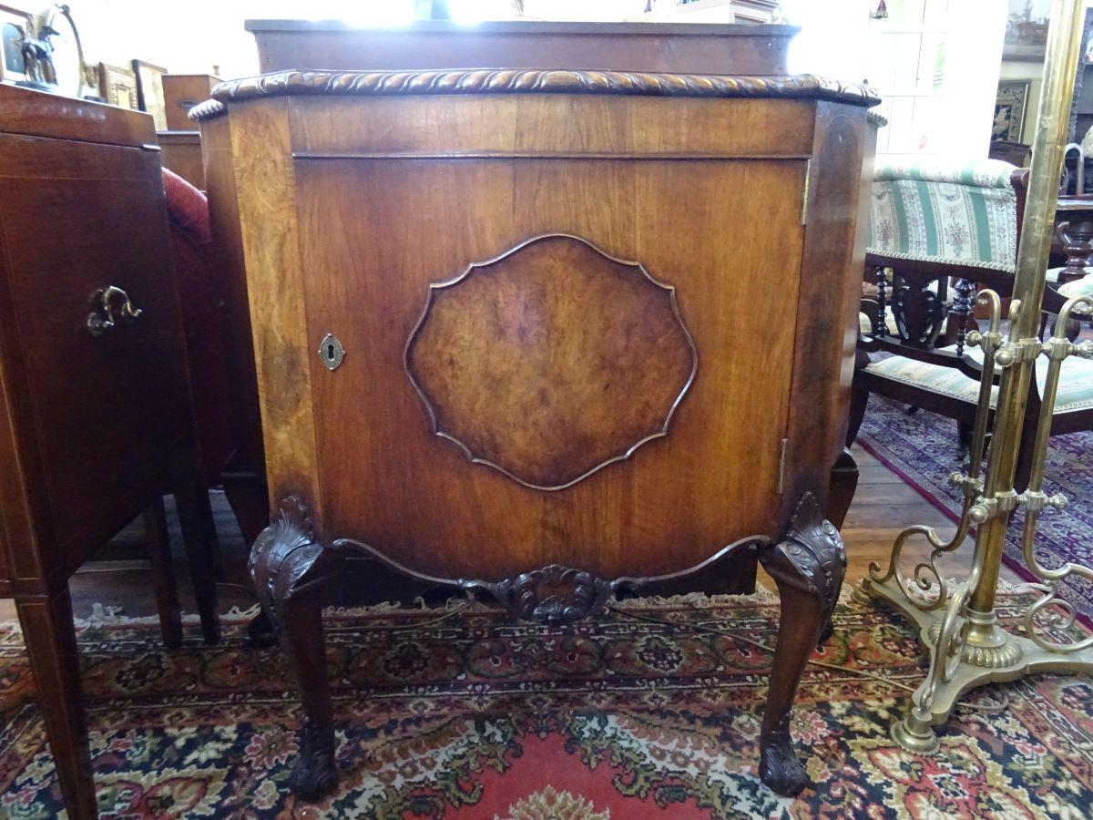 1930's walnut cabinet