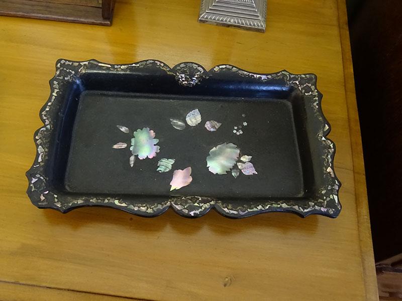 Victorian papier mache rectangular tray-Jennens & Bettridge
