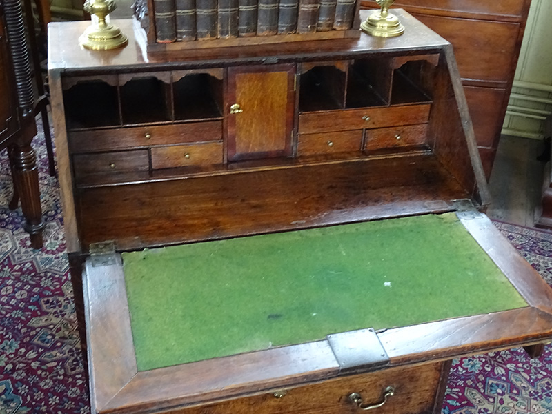 18th. century oak bureau
