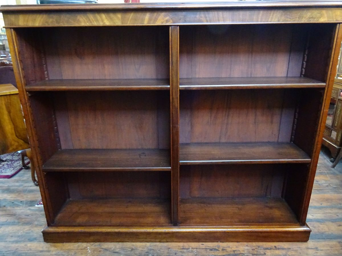 19th century mahogany double fronted bookcase
