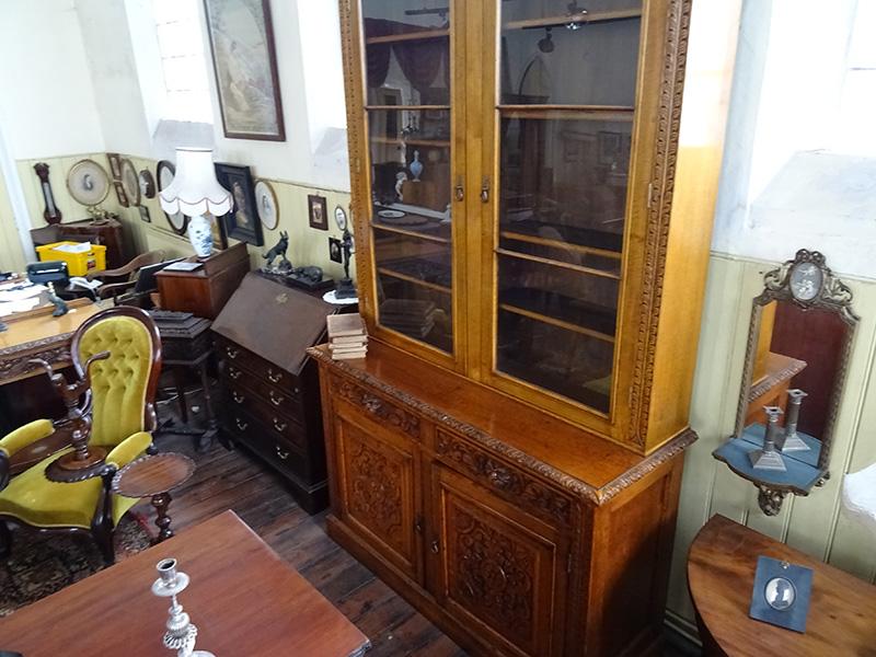 Victorian oak library bookcase