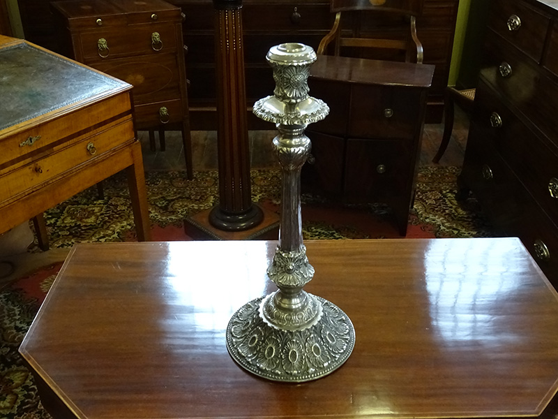 Large Victorian silverplate candlestick