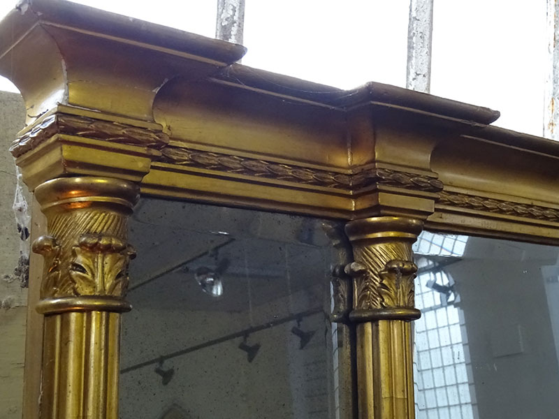 Early 19th.century giltwood overmantle mirror