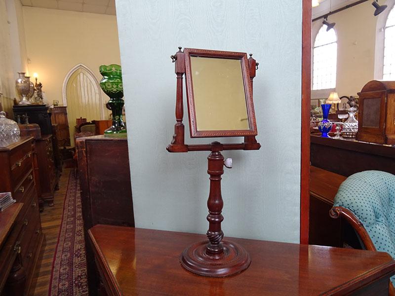 Georgian mahogany adjustable shaving mirror
