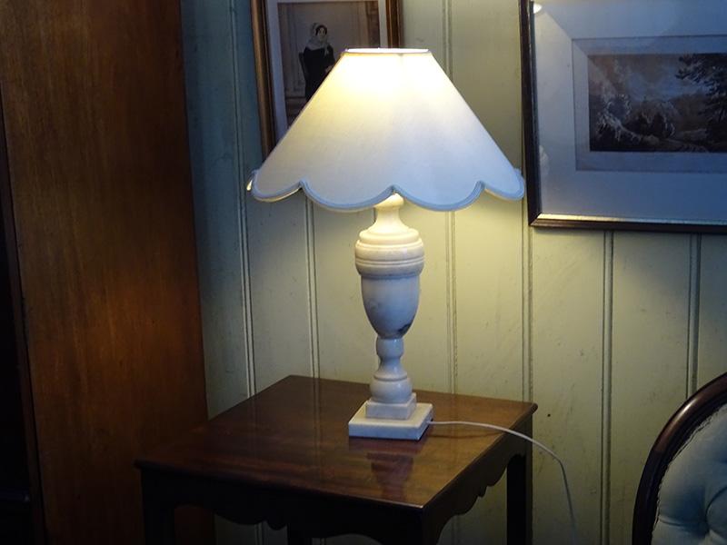 1930's Alabaster Lamp