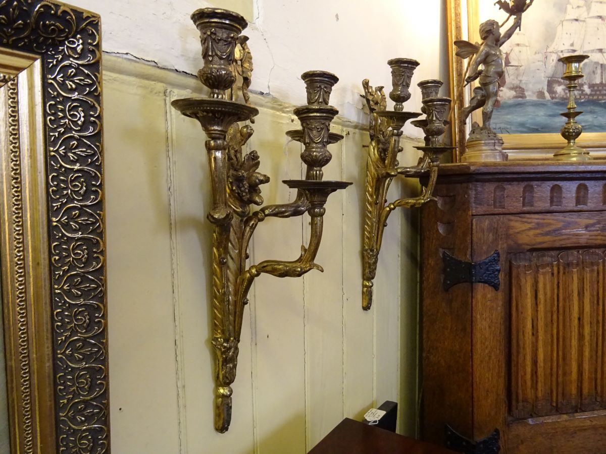 Pair of 19th century candle brackets
