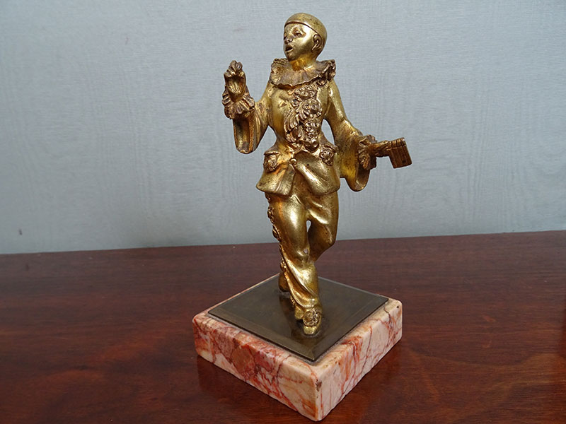 19th century Gilt figure of a Pierrot