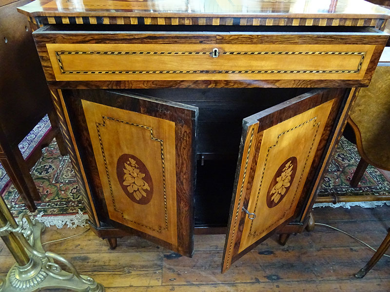 19th century Rosewood marquetry side cabinet