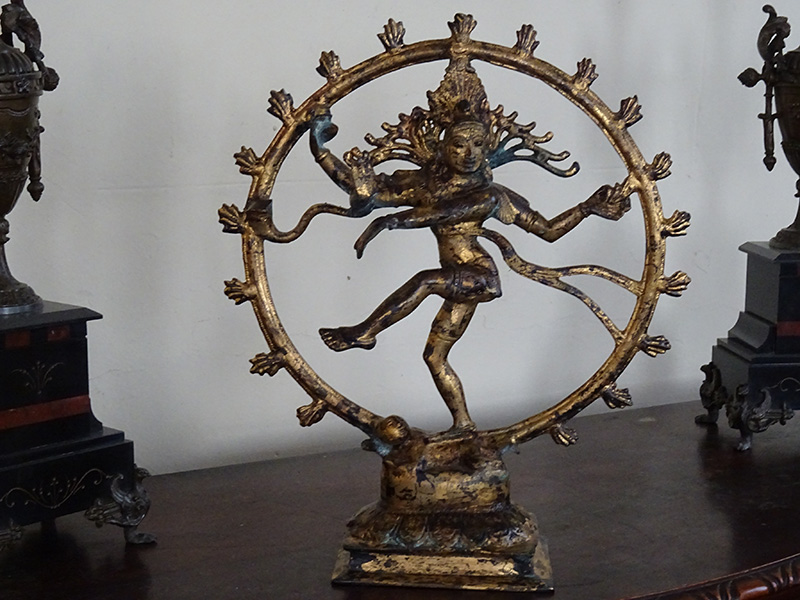 Oriental Gilt Bronze Deity