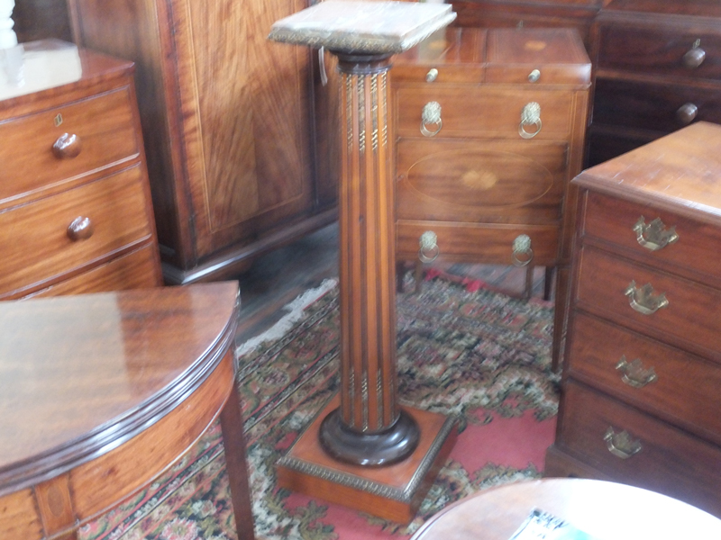 19th. century satinwood pedestal