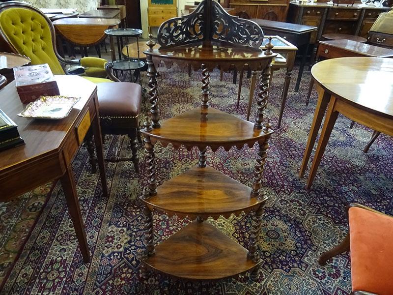 Victorian rosewood 4 tier whatnot