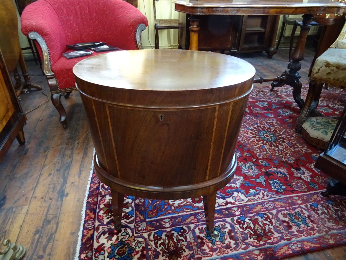 19th. century oval mahogany wine cooler