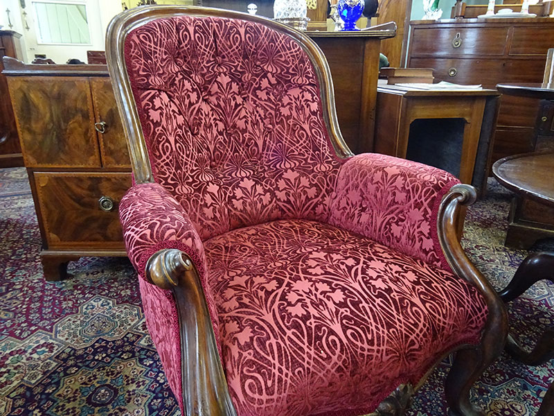 Early Victorian easy chair