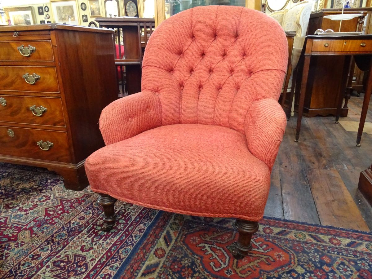 Victorian Upholstered Fireside Chair