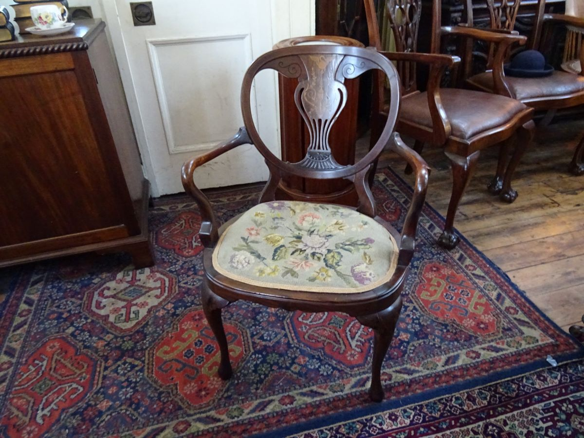 Late Victorian bedroom elbow chair
