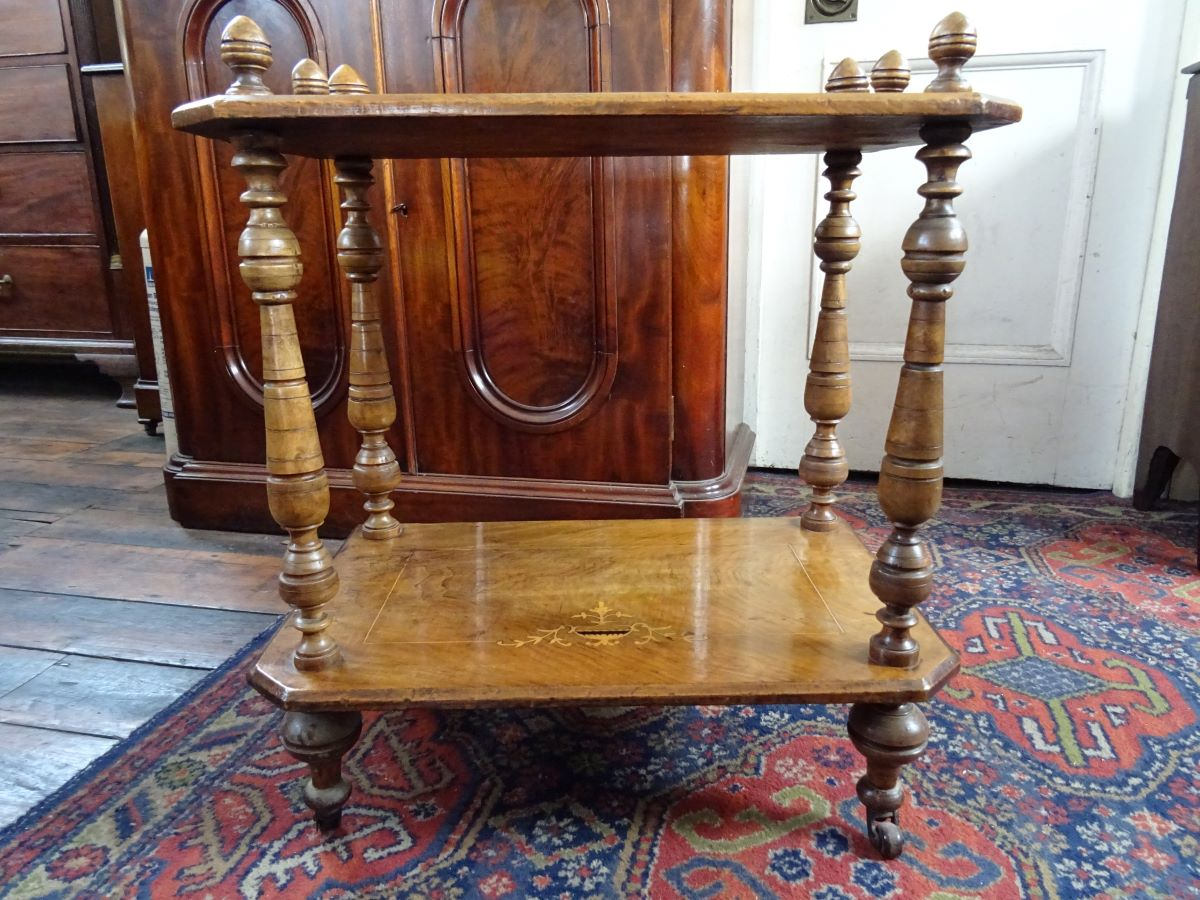 Victorian low 2 tier table