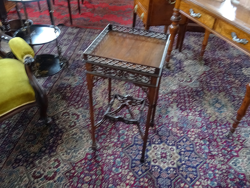 Late Victorian mahogany silver table